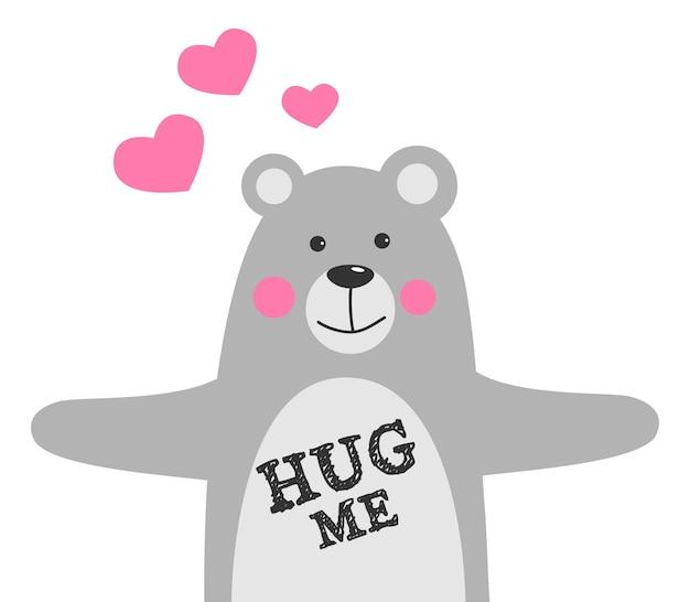 Umarme mich liebeskonzept valentinstag
