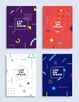 Umfasst moderne abstrakte designvorlagen.