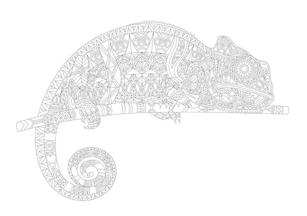 Umreißen sie gezeichnetes zoologisches abstraktes pädagogisches tier