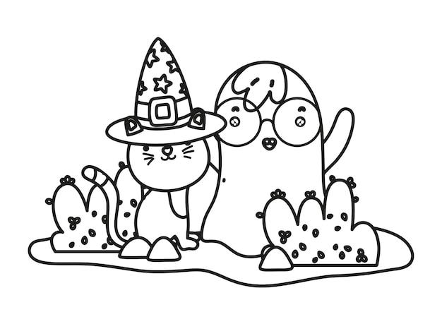 halloweenkatze umriss  kostenlose icon