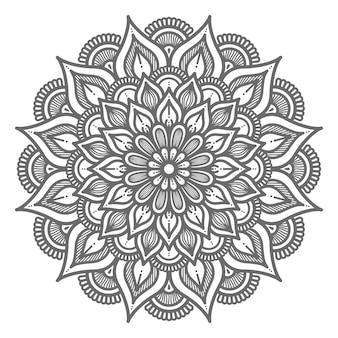 Umriss dekorative mandala-illustration für abstraktes und dekoratives konzept