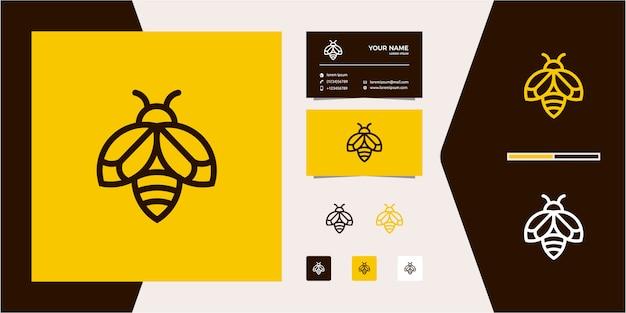 Umriss monoline line bee logo