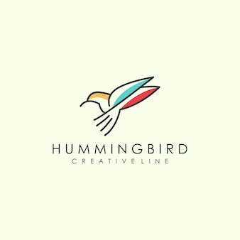 Umriss vogel logo kunst
