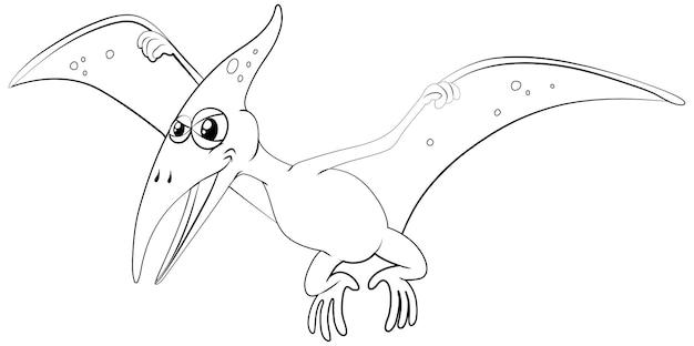 Umrisstier für flugsaurier
