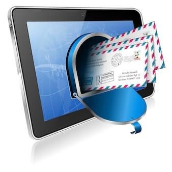 Umschläge mit tablet pc