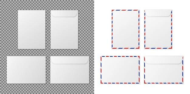Umschlag a4 papier weiße leere briefumschläge für vertikale und horizontale dokumente