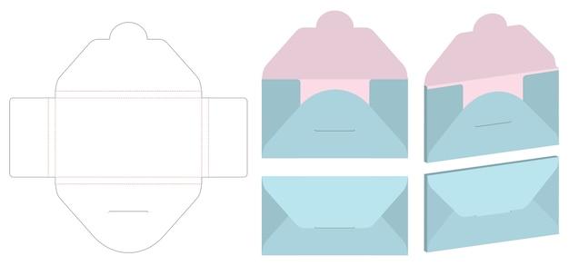 Umschlag gestempelter schein herauf schablonenvektor
