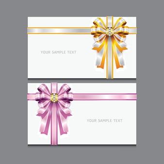 Umschlag mit diamant und band.