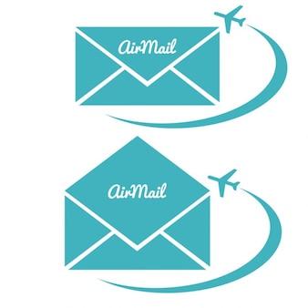 Umschlag mit luftpost-zeichen
