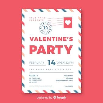 Umschlag valentinstag party poster