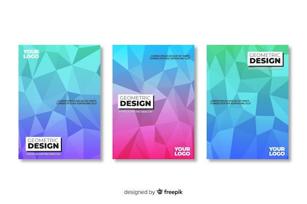 Umschlagsammlung mit geometrischem design