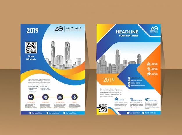 Umschlagschablone a4-format broschüre für business-design