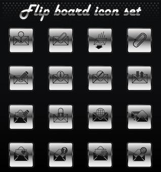 Umschlagvektor-flip-mechanische symbole für das design der benutzeroberfläche