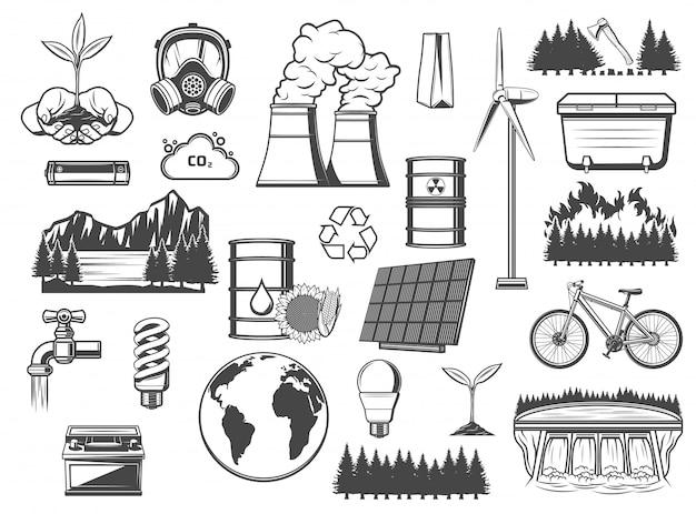 Umwelt, grüne energie und energiequellen
