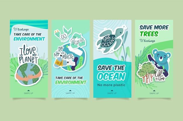 Umwelt instagram geschichten vorlage