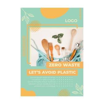Umwelt null abfall flyer vorlage