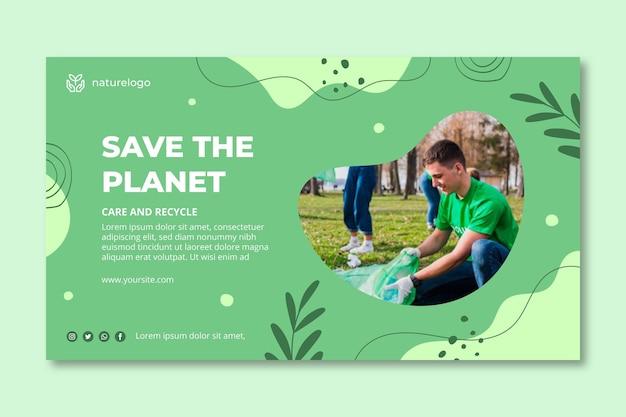 Umweltbanner-vorlage