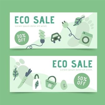 Umweltfreundliche bannerentwürfe