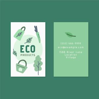 Umweltfreundliche doppelseitige visitenkarte
