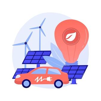 Umweltfreundlicher transport, gesunder kraftstoff, verrottende brennstoffe. fahrzeug ohne schadstoffemission. umweltfreundliche tankstelle
