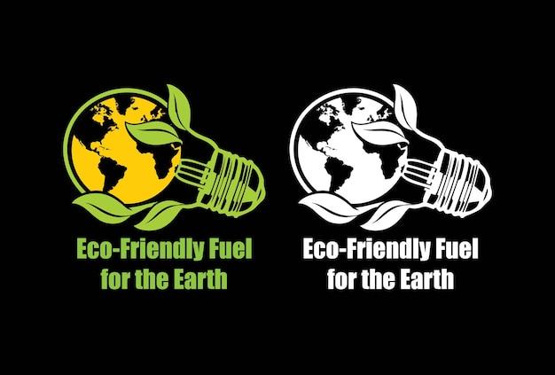 Umweltfreundlicher treibstoff für das earth-t-shirt-design