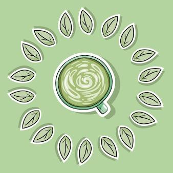 Umweltfreundlicher wellnessbereich mit grünem kaffee. geh grün und lebst