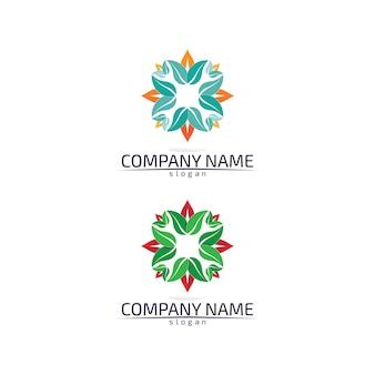 Umweltfreundliches logo des baumblatts