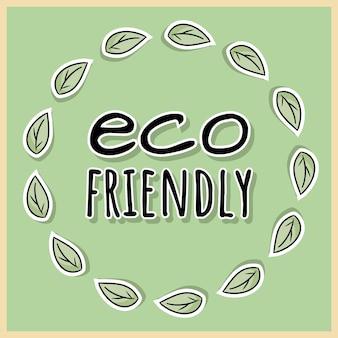 Umweltfreundliches poster