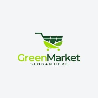 Umweltfreundliches shop-logo, veganer lebensmittelladen, naturproduktmarkt, bio-produkte.
