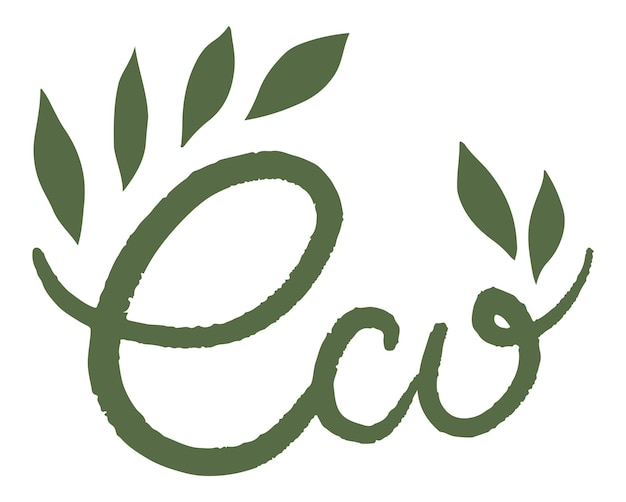 Umweltfreundliches und natürliches produktetikett oder emblem