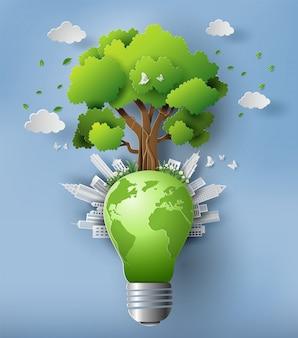 Umweltfreundliches und tag der erde-konzept.