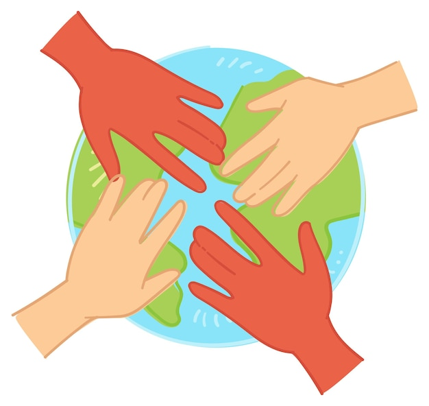 Umweltschutz und einheit der menschheit vektor