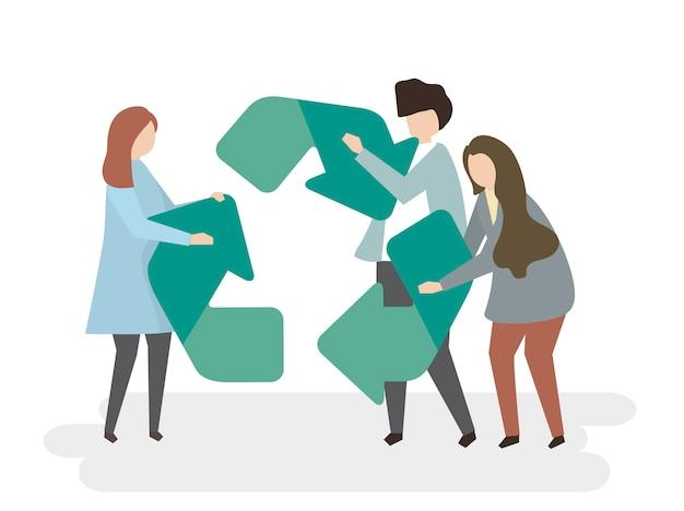 Umweltschutz und recycling-symbol