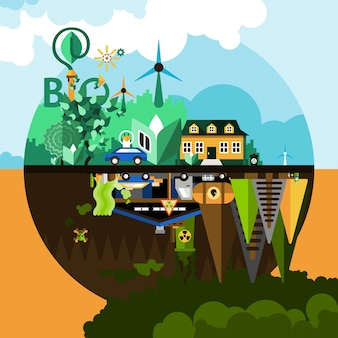 Umweltverschmutzung konzept hintergrund
