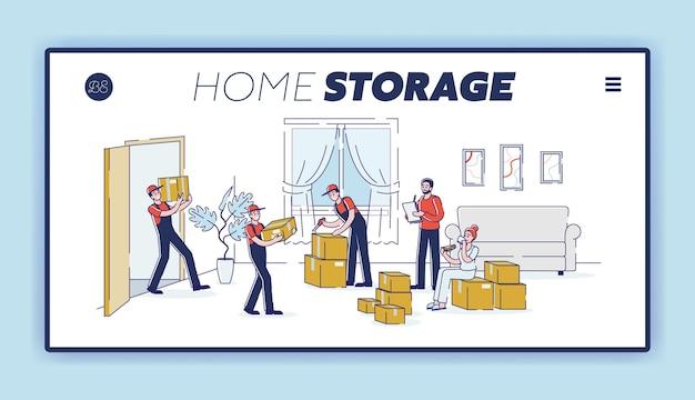 Umzugsservice und home storage delivery company website