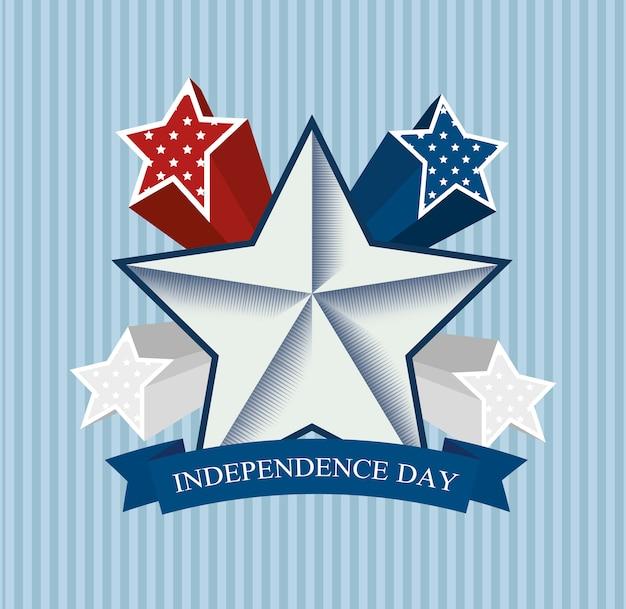 Unabhängigkeit von amerika design