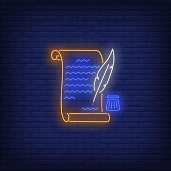 Unabhängigkeitserklärung der vereinigten staaten leuchtreklame. usa-symbol, geschichte.