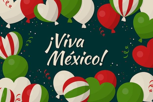 Unabhängigkeitshintergrund des flachen entwurfs mexikos