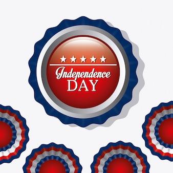 Unabhängigkeitstag 4. juli usa-entwurf