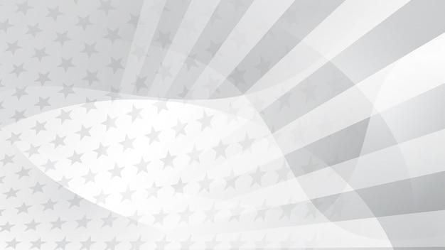 Unabhängigkeitstag abstrakter hintergrund mit elementen der amerikanischen flagge in grauen farben