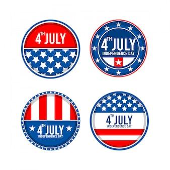 Unabhängigkeitstag-aufkleber-symbole