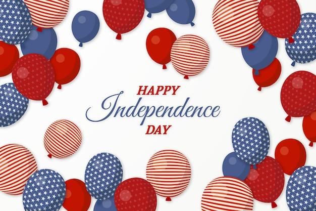 Unabhängigkeitstag ballons hintergrund