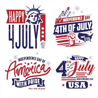 Unabhängigkeitstag der amerika-abzeichensammlungen