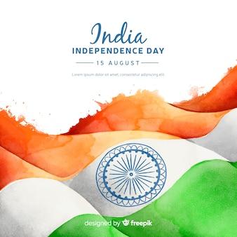 Unabhängigkeitstag der indien-hintergrundaquarellart