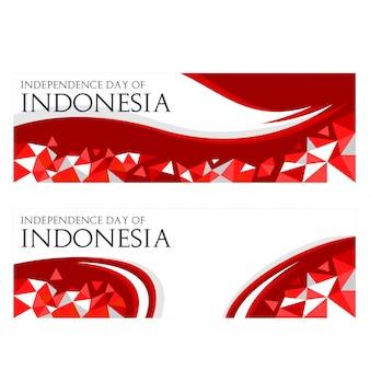 Unabhängigkeitstag der indonesien-fahnenschablone