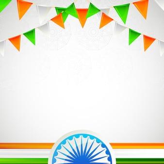 Unabhängigkeitstag der rahmenkarte indien-freien raumes