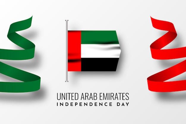 Unabhängigkeitstag design der vereinigten arabischen emirate