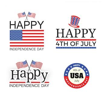 Unabhängigkeitstag-flaggen-fahnen-elemente