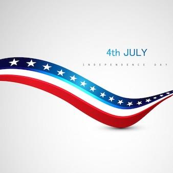 Unabhängigkeitstag hintergrund mit wellen