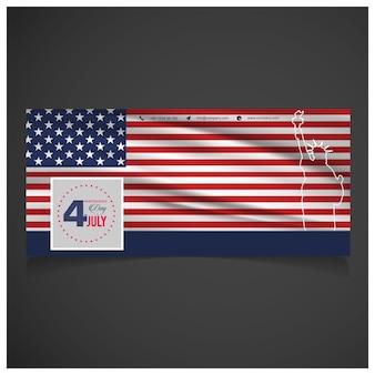 Unabhängigkeitstag hintergrund und abzeichen logo mit us-flagge